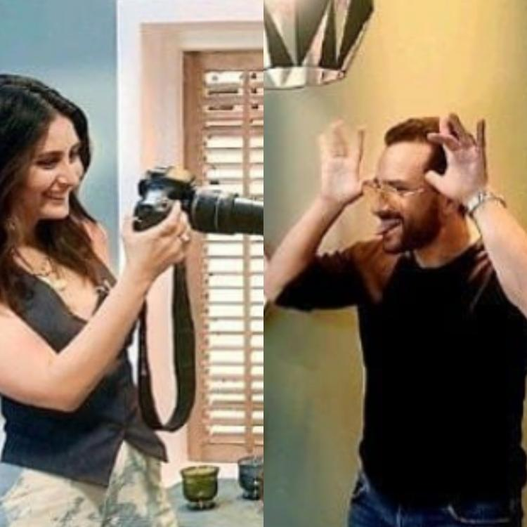 Kareena Kapoor Khan turns photographer for Saif Ali Khan while he makes faces and it is adorable; Check out