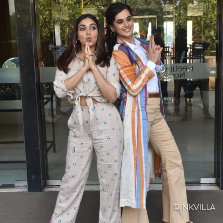 Taapsee Pannu & Bhumi Pednekar are back in their glam avatar but can't get over the Saand Ki Aankh mode