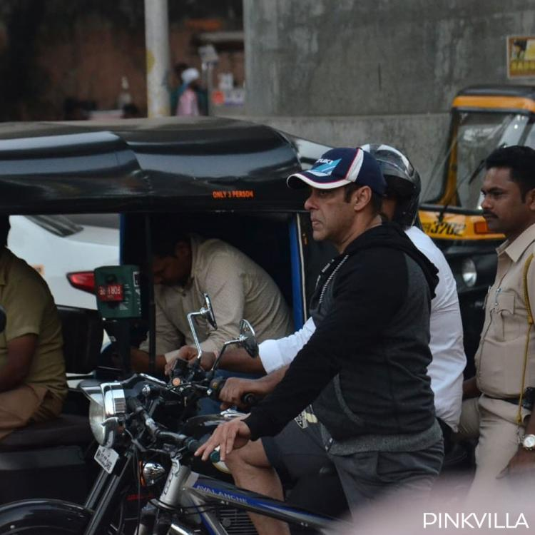 PHOTOS: Salman Khan wards off his Monday blues with a cycle ride in the city