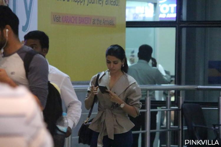 Airport Diaries: Samantha Akkineni keeps it casual as she returns after meeting Naga Chaitanya