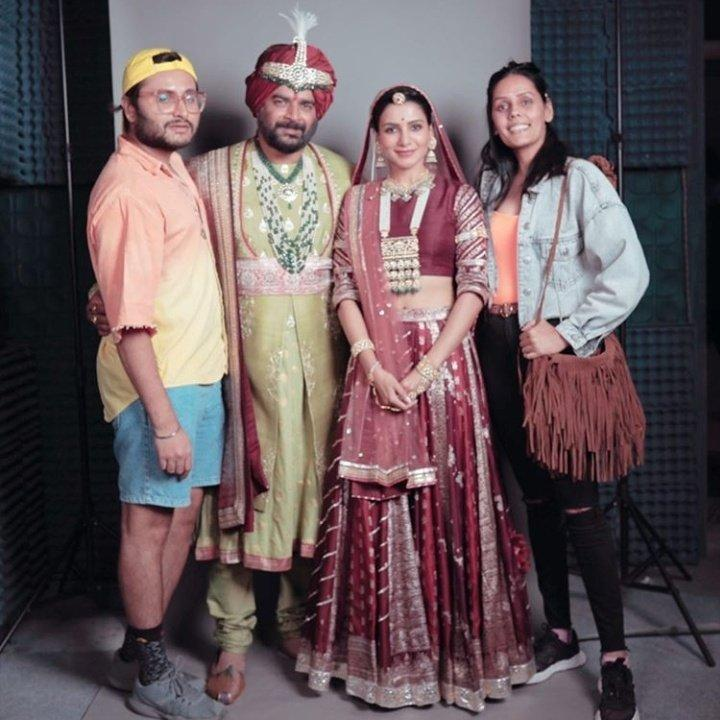 Samantha Akkineni and R Madhavan look royal in this BTS picture from their recent ad shoot