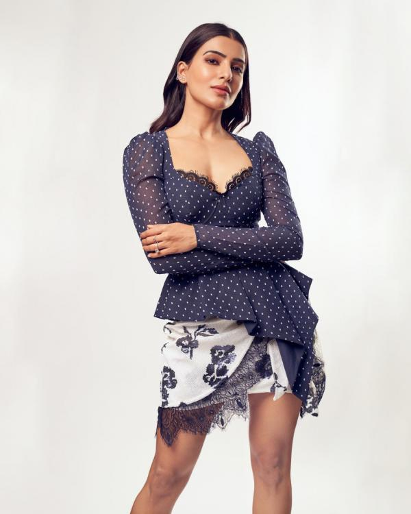 PHOTOS: Samantha Akkineni dolls up in a retro outfit with a lace twist