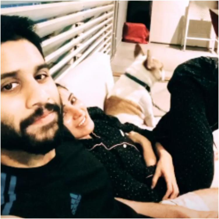 Samantha Akkineni shares a cozy picture with hubby Naga Chaitanya and their pet Hash; Check it out