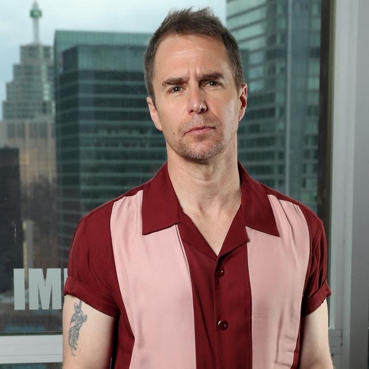 Sam Rockwell says he hates to spend time on make-up chair
