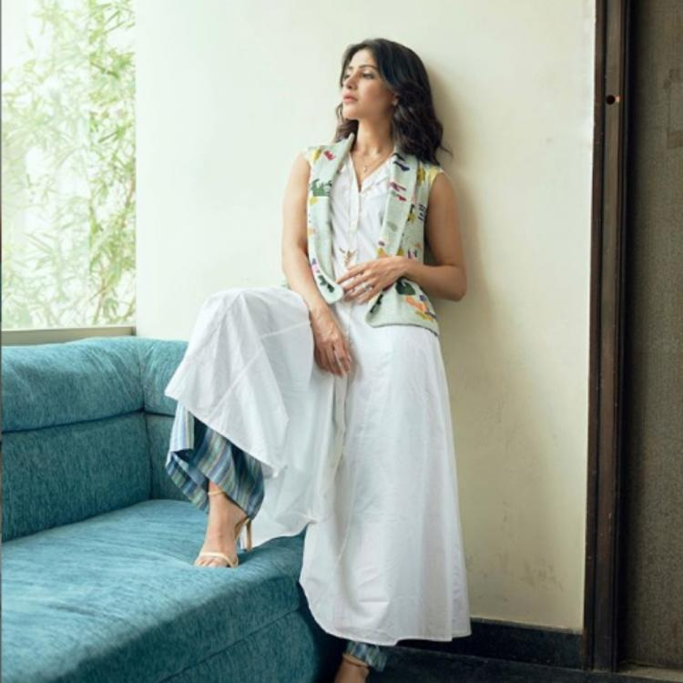Samantha Akkineni looks ethereal in a stylish white outfit; View PICS
