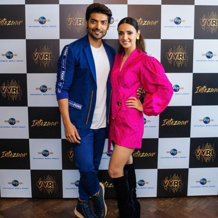 Sanaya Irani & Gurmeet Choudhary's elegant pic from Intezaar song launch makes us curious to see them together