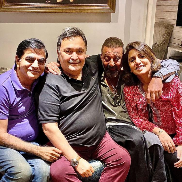 Sanjay Dutt's latest pic with Rishi and Neetu Kapoor raises concern among fans about the Vaastav star's health