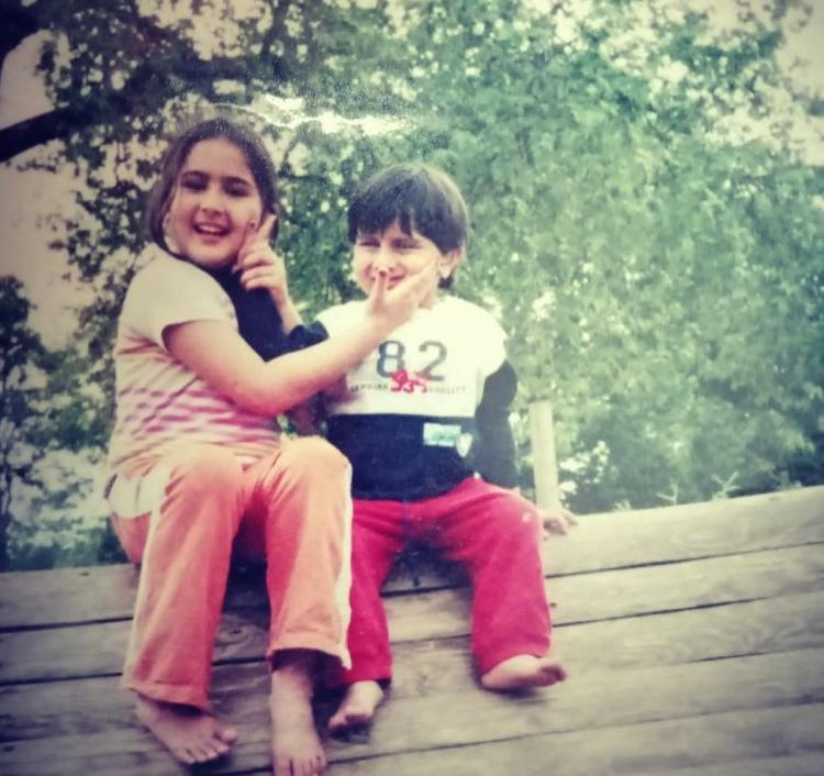 Sara Ali Khan shares adorable photos with brother Ibrahim Ali Khan on National Siblings Day