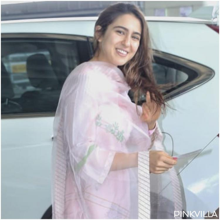 Airport Diaries: Sara Ali Khan is a sight to behold in pink as she flashes her million dollar smile; See Pics