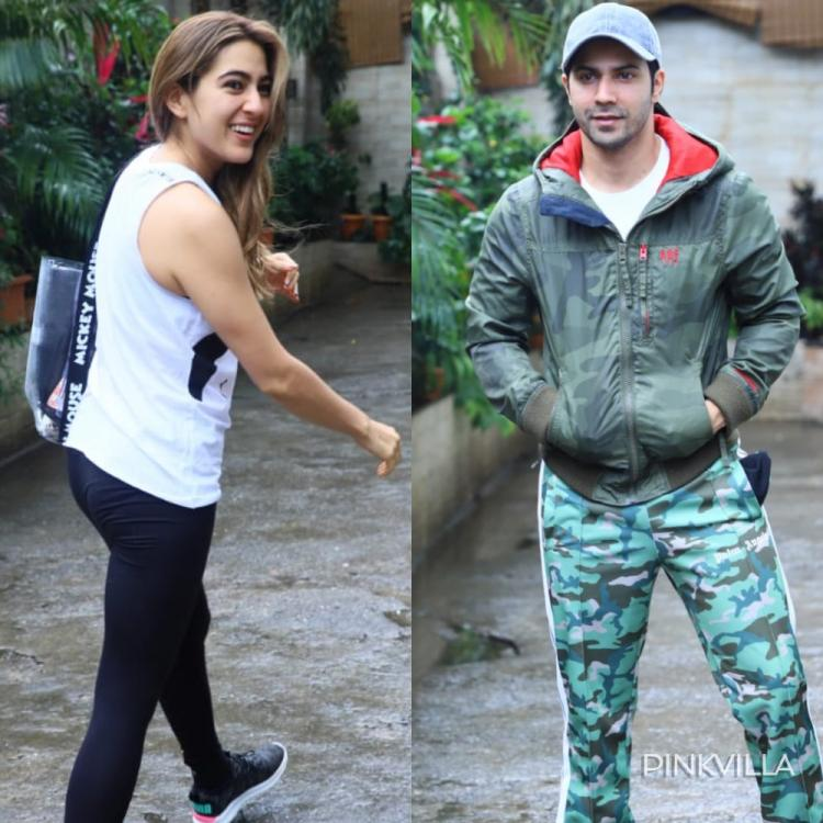 PHOTOS: Coolie No 1 actors Sara Ali Khan and Varun Dhawan head out for a dance practice; Check it out