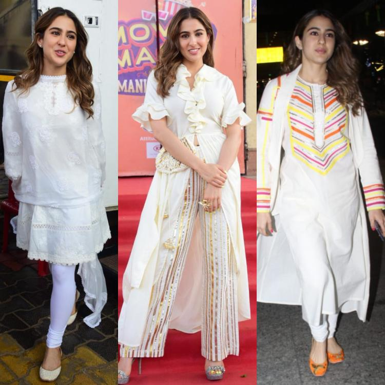Sara Ali Khan has a love affair with white; sports three refreshing white outfits in a single day