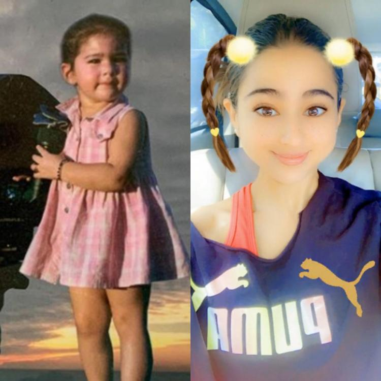 Sara Ali Khan was as adorable as a kid as she is as an adult with the baby filter; view PHOTOS