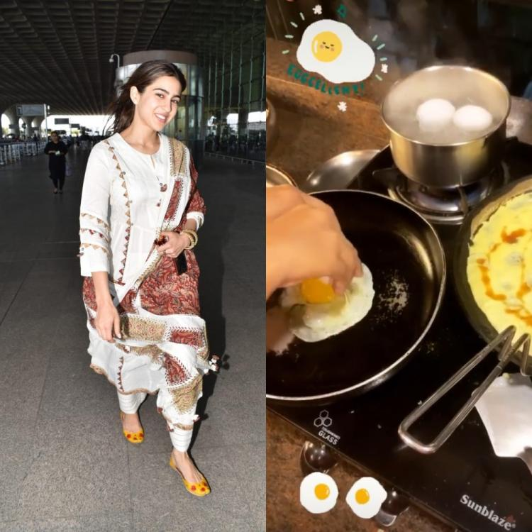 Sara Ali Khan turns into a cook as she whips up an omelette & chocolate shake during quarantine; See PHOTOS