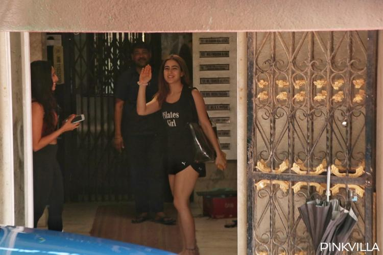 PHOTOS: Sara Ali Khan looks like a million bucks in all black look as she gets snapped outside the gym