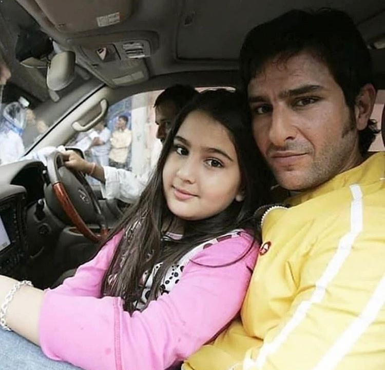 Sara Ali Khan and Saif Ali Khan's throwback photo is pure gold and fans love it. Take a look
