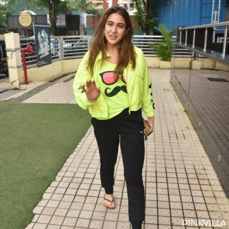 PHOTOS: Sara Ali Khan makes neon green look cooler as she makes way for her outing in the city