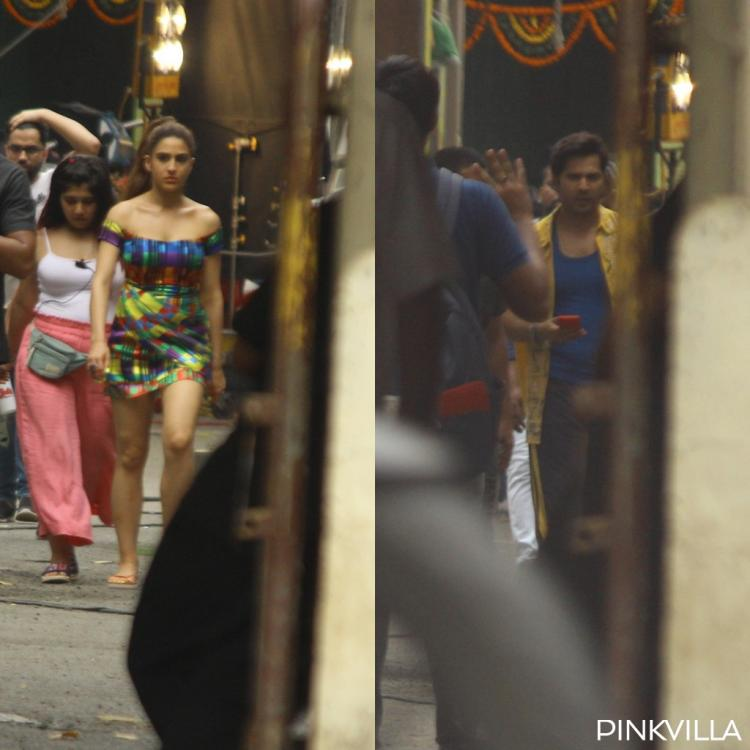 PHOTOS: Sara Ali Khan and Varun Dhawan don colourful looks on Coolie No 1 sets & we want to see the outcome