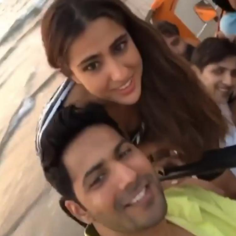 Sara Ali Khan and Varun Dhawan have a gala time as they shoot for Coolie No. 1 at a beach; WATCH Video