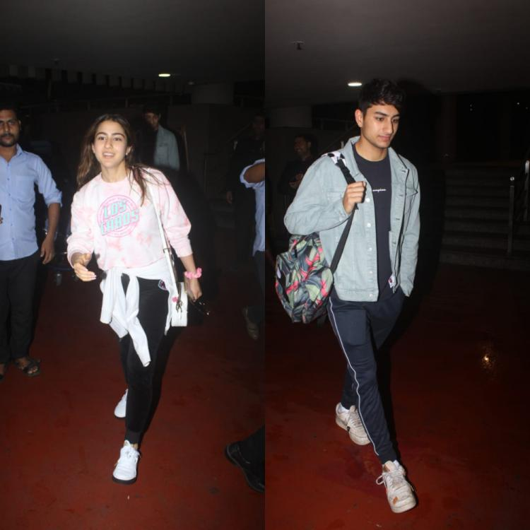 Airport Diaries: Sara Ali Khan & Ibrahim Ali Khan look happy & content as they return from London