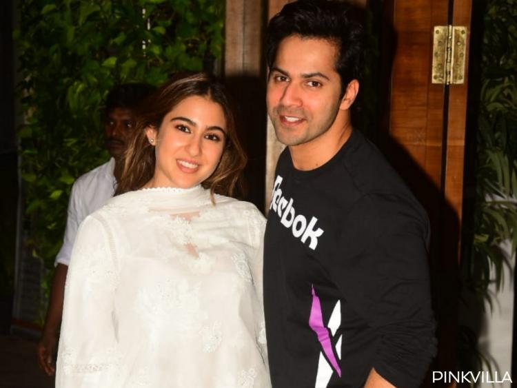 PHOTOS: Coolie No. 1 stars Sara Ali Khan and Varun Dhawan turn posers as they step out for a meeting