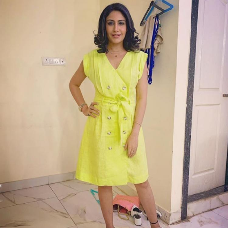 Sanjivani 2 actress Surbhi Chandna is a sight to behold as she slays in a pretty yellow dress in this BTS pic