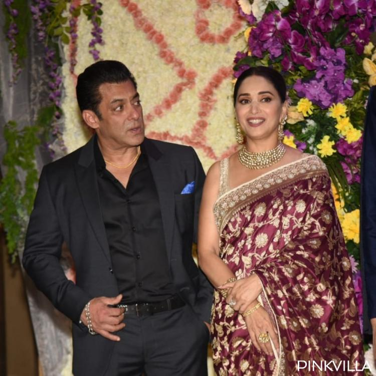 PHOTOS: Salman Khan, Kartik Aaryan, Madhuri Dixit & others attend Devansh Barjatya's wedding reception