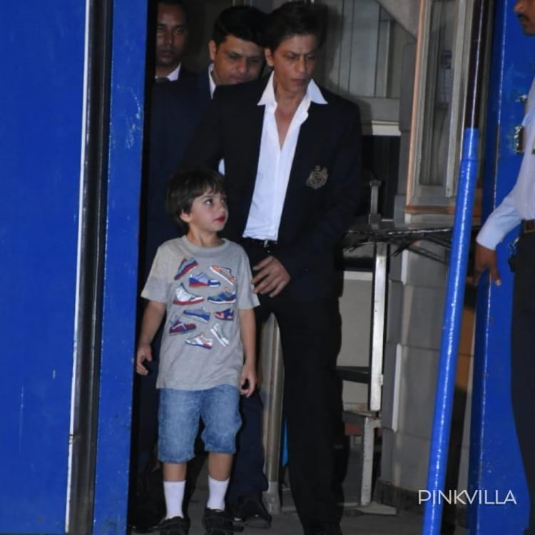Shah Rukh Khan & baby boy AbRam Khan make for a perfect father son duo as they step out together