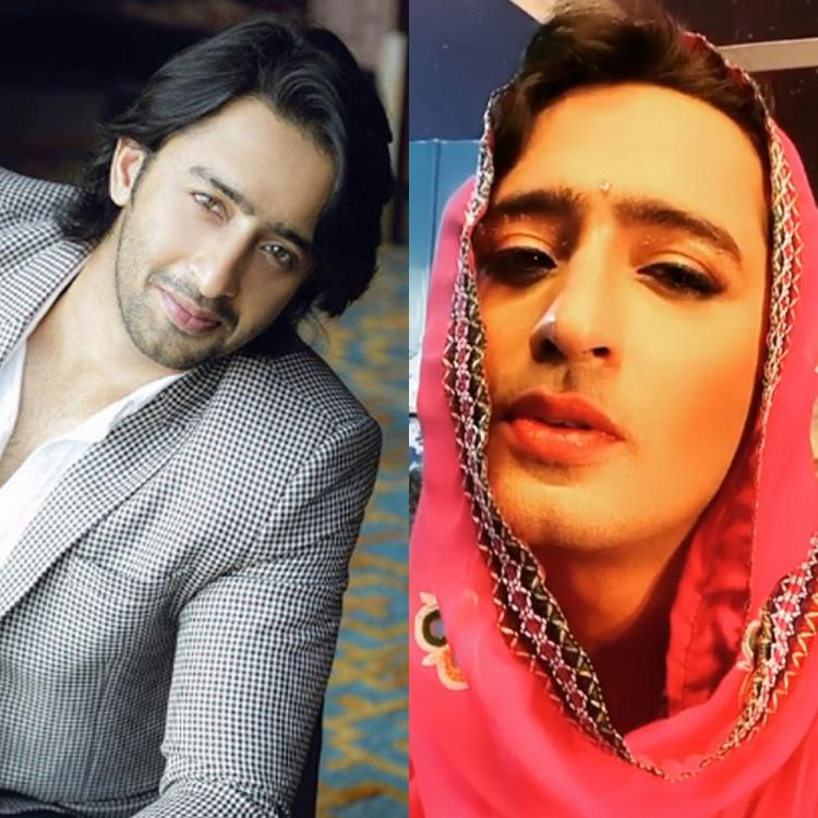 YRHPK star Shaheer Sheikh disguises as a woman and flaunts 'husn ke hazar rang' in the latest post