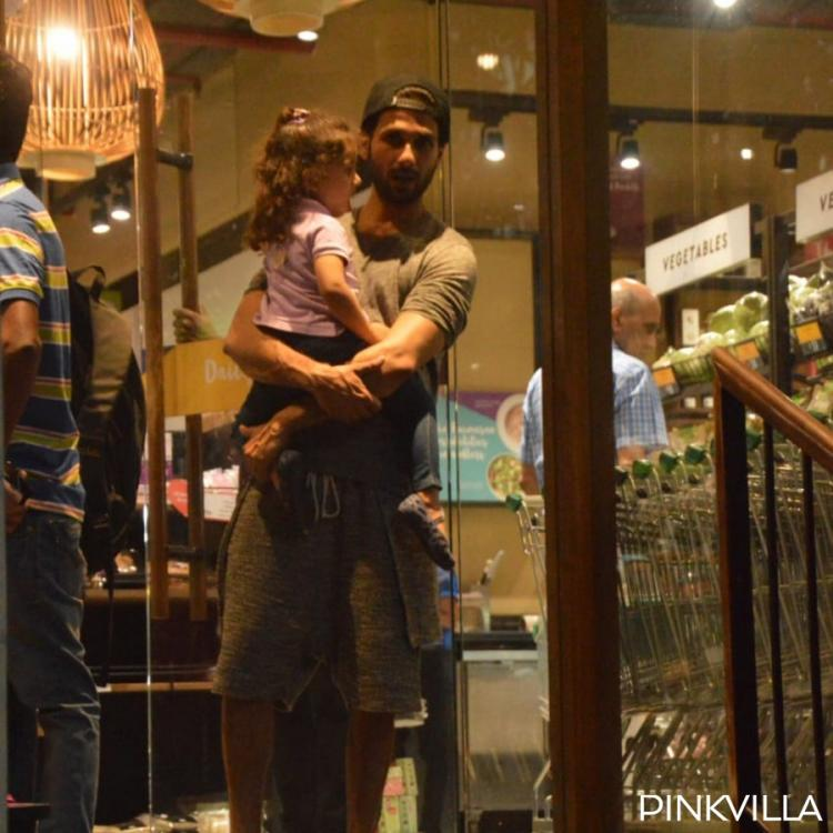 PHOTOS: Shahid Kapoor and Mira Rajput take daughter Misha Kapoor along as they step out for grocery shopping