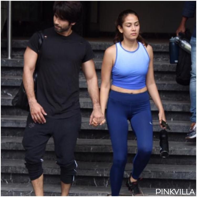 PHOTOS: Shahid Kapoor and wife Mira Rajput beat the mid week blues by hitting the gym together