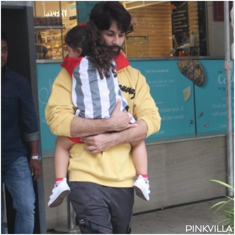 Misha Kapoor clings to daddy Shahid Kapoor as they step out for grocery shopping; See Pics