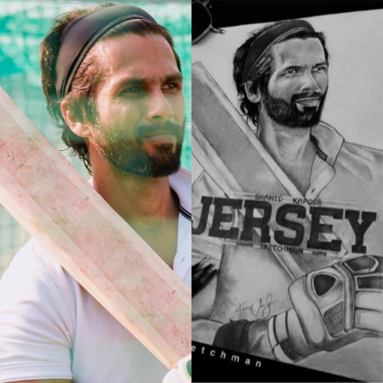 Shahid Kapoor is in awe of a beautiful sketch made by a fan of his character from Jersey; See Photo