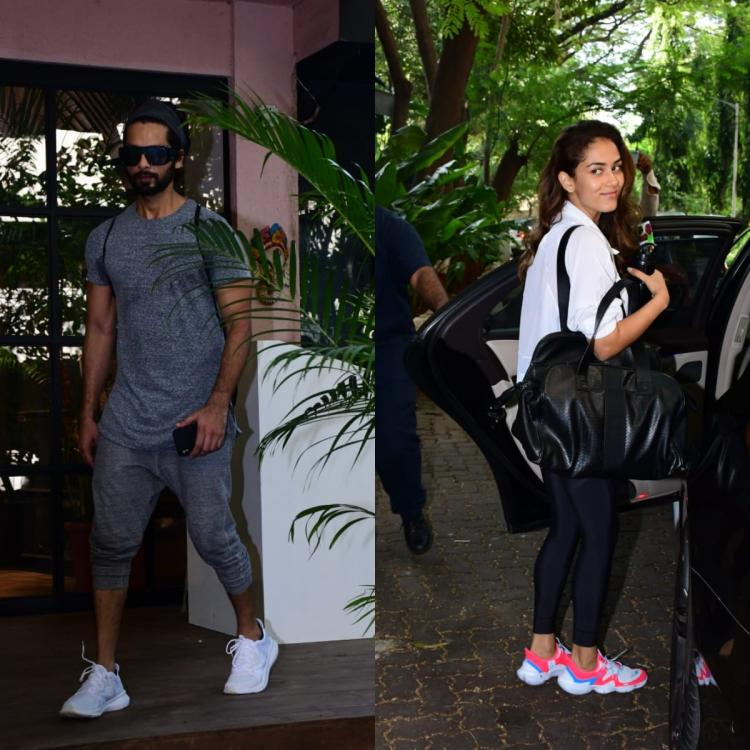 PHOTOS: Shahid Kapoor and Mira Rajput get spotted as they step out after their workout session