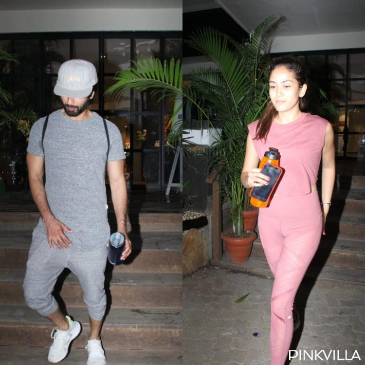 PHOTOS: Shahid Kapoor and Mira Rajput start off the New Year by hitting the gym