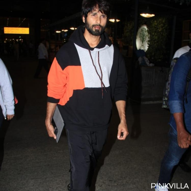 PHOTOS: Jersey actor Shahid Kapoor sports a comfy look as he arrives at the airport
