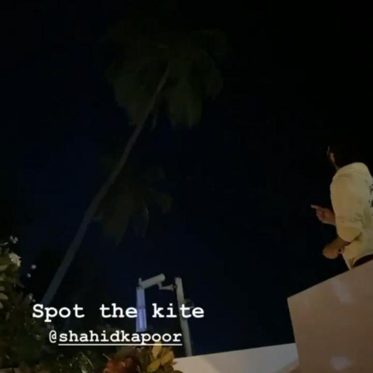 Makar Sankranti 2020: Shahid Kapoor indulges in late night kite flying in this photo shared by Mira Rajput