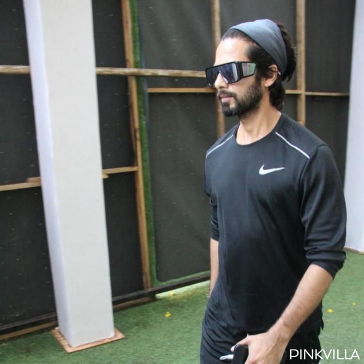 PHOTOS: Shahid Kapoor's all black sporty look as he preps up for the Hindi remake of Jersey is uber cool