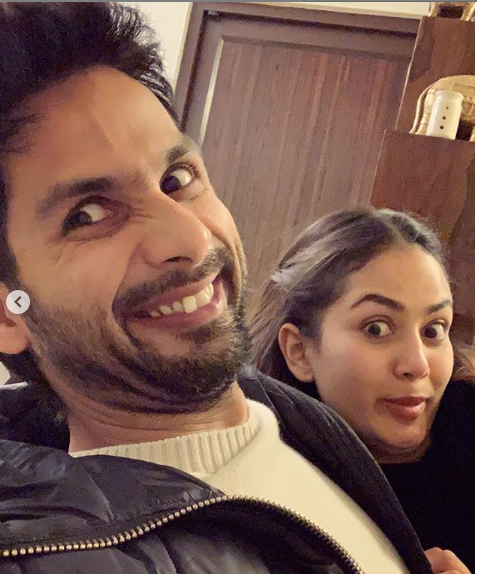 Shahid Kapoor and wife Mira Raiput celebrate the actor's birthday by being GOOFY; see photos
