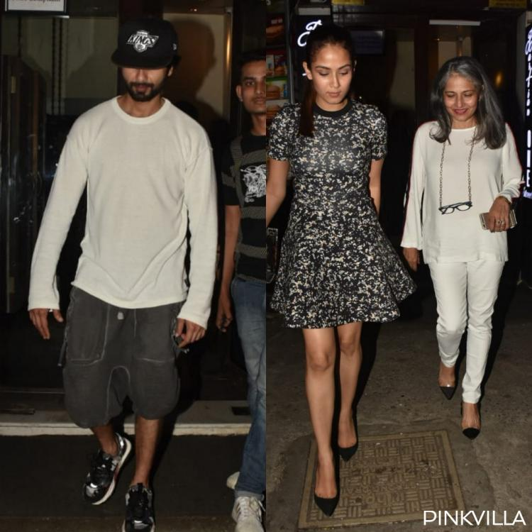 PHOTOS: Shahid Kapoor accompanies wife Mira Rajput and her mother for a family dinner