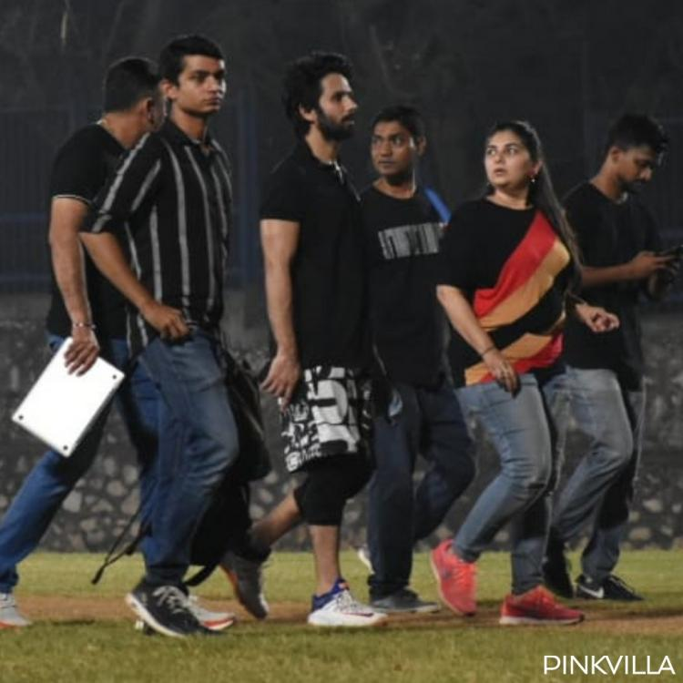 PHOTOS: Shahid Kapoor's spirits are at an all time high post his midnight practice session for Jersey