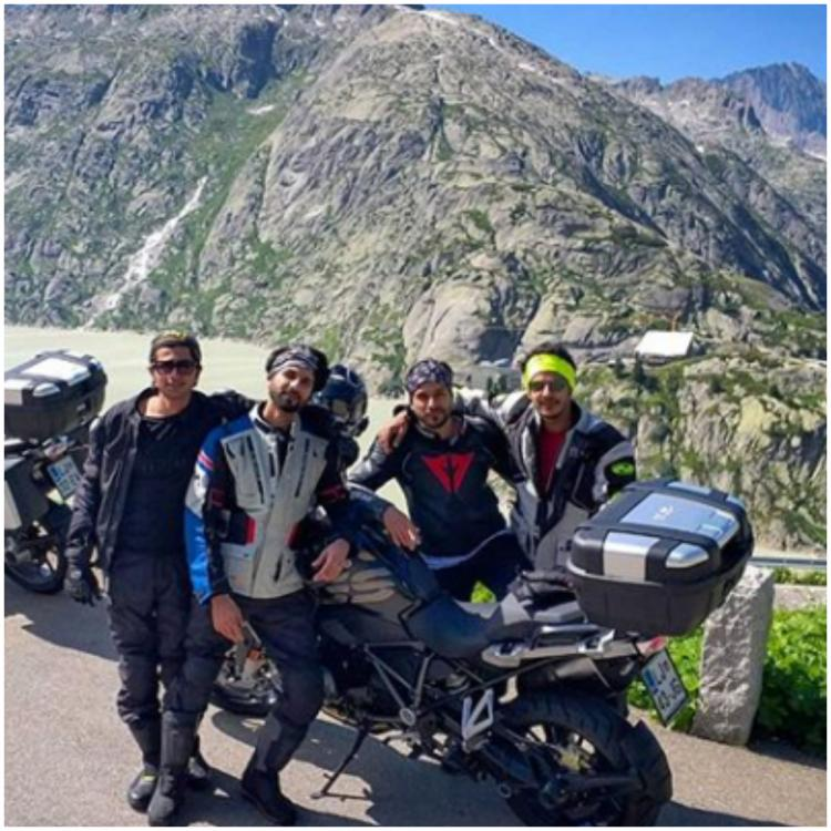 Shahid Kapoor, Ishaan Khatter and their boy gang are revving up amidst the scenic beauty of Switzerland