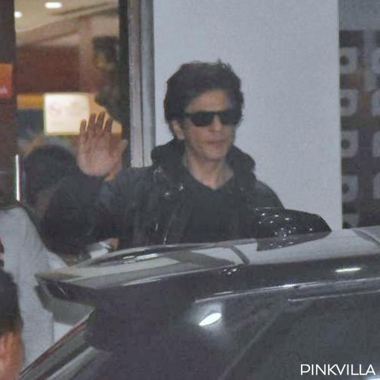 PHOTOS: Shah Rukh Khan waves out to the paparazzi as he arrives at the airport