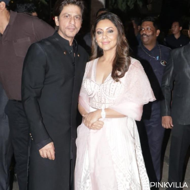 PHOTOS: Shah Rukh Khan & Gauri Khan personify grace and poise as they pose for paps at Bachchan's Diwali party
