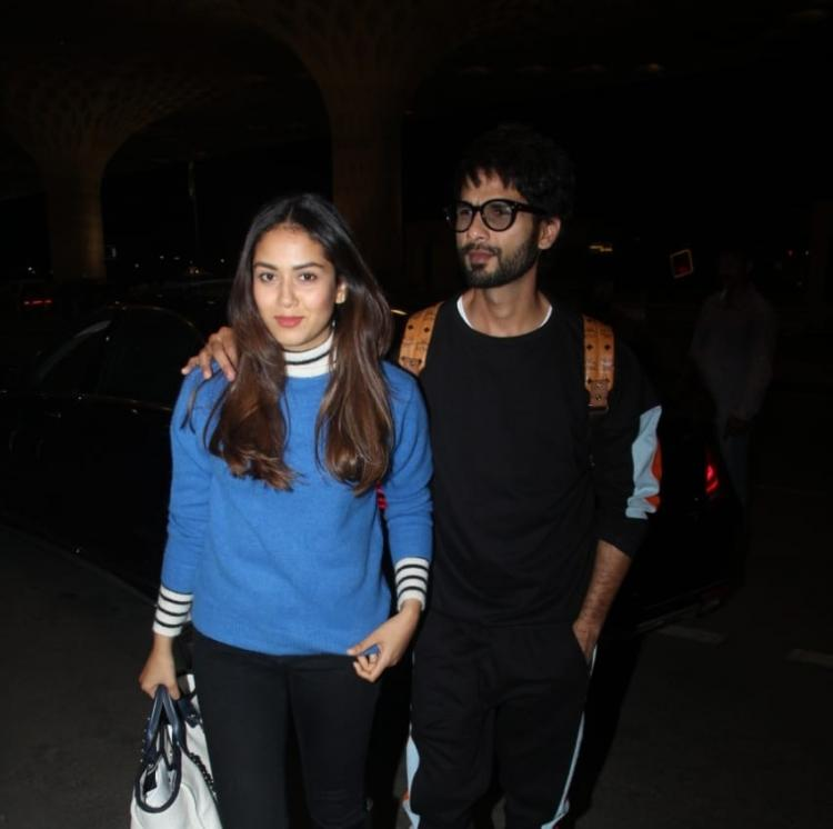 PHOTOS: Shahid Kapoor and Mira Rajput look simple yet stylish as they get snapped at the airport