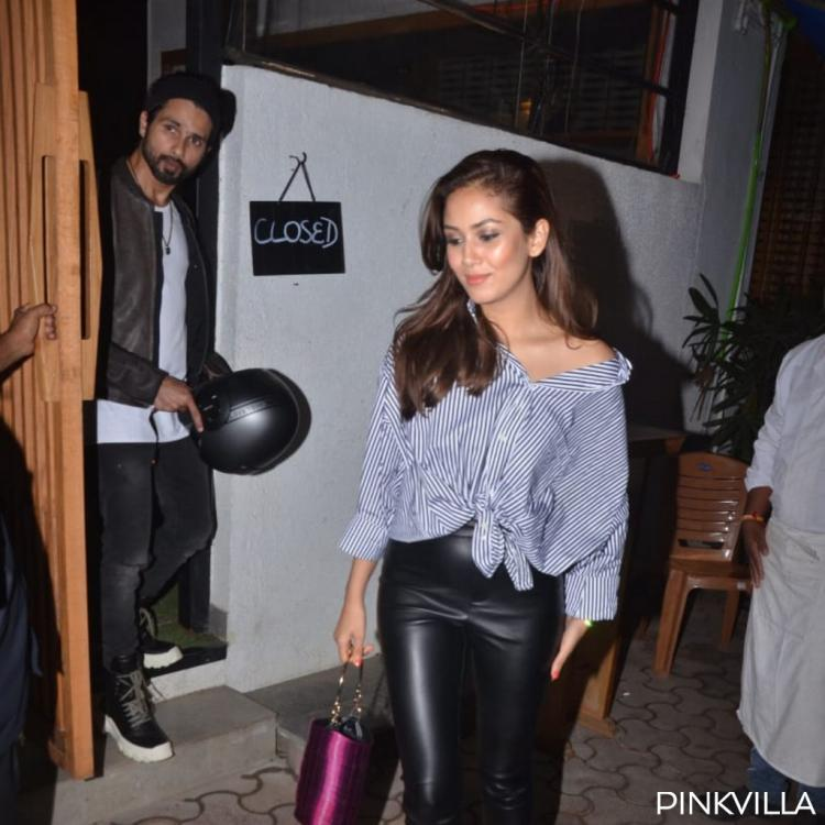 PHOTOS: Shahid Kapoor rides his bike to dinner date with wife Mira Rajput while she opts for the car