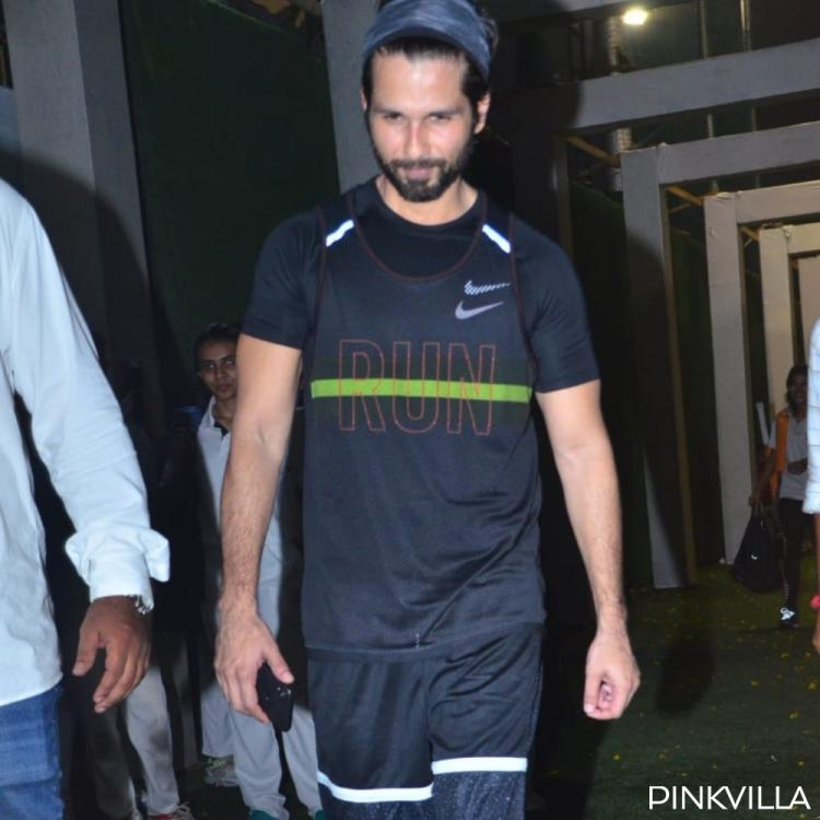 PHOTOS: Shahid Kapoor gets papped as he steps out after training in the nets for Jersey