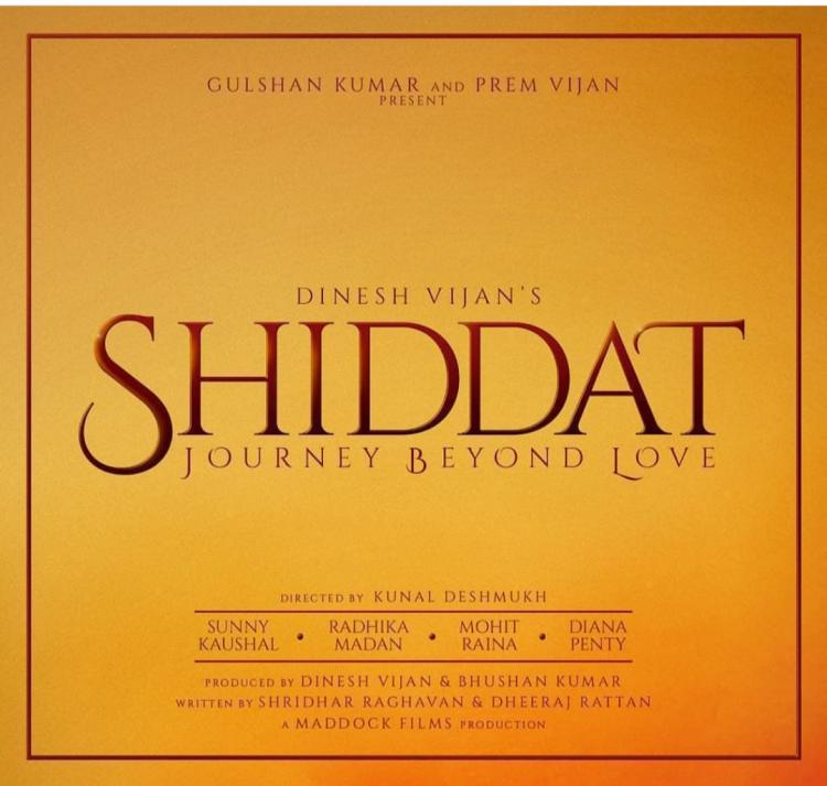 Radhika Madan, Sunny Kaushal, Mohit Raina & Diana Penty roped in for the film Shiddat Journey Beyond Love
