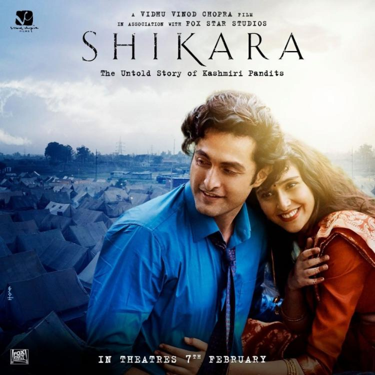 Shikara: The new poster featuring Aadil Khan and Sadia depicts their love story in the Vidhu Vinod Chopra film