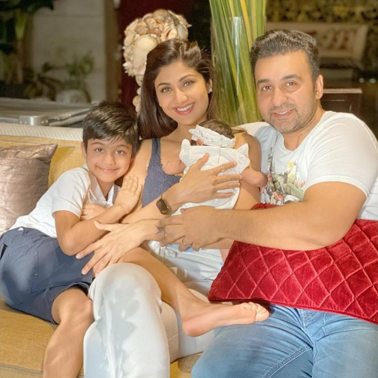 Shilpa Shetty shares an adorable family photo with a motivational message as Samisha completes 40 days
