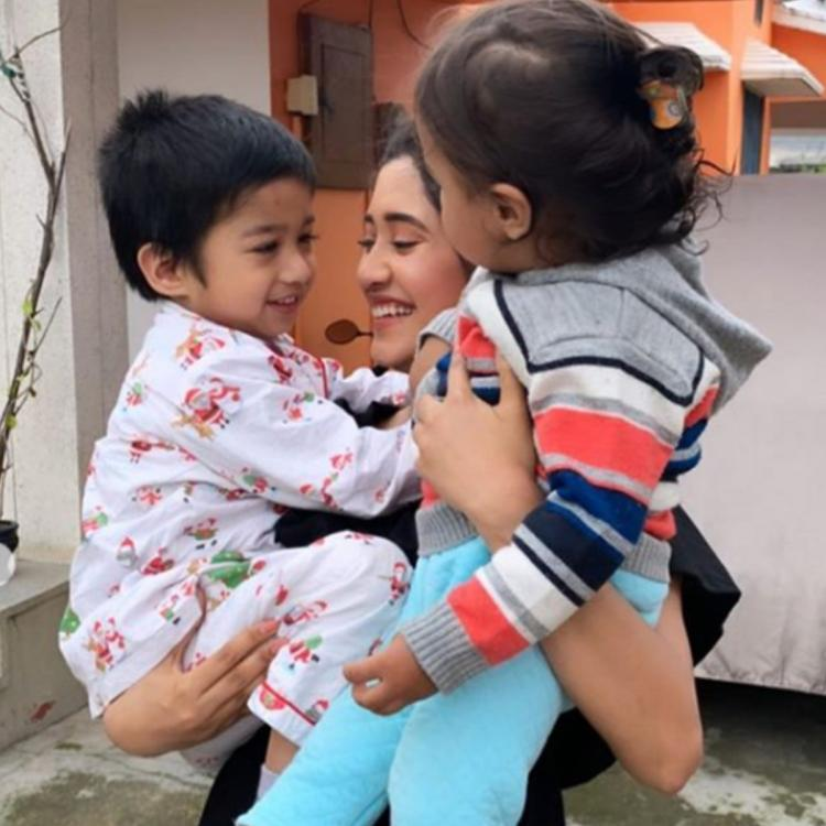 PHOTOS: Shivangi Joshi is beyond glad as she cuddles with kids and it is a sight to behold